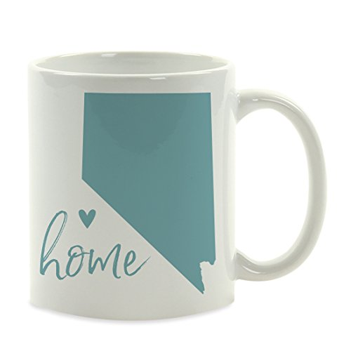 (Andaz Press 11oz. US State Coffee Mug Gift, Aqua Home Heart, Nevada, 1-Pack, Unique Hostess Distance Moving Away Christmas Birthday Gifts for Her )