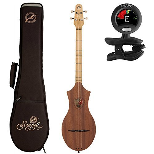 Seagull Merlin Dulcimer 039098, Natural Mahogany with Gig Bag and Tuner by Seagull