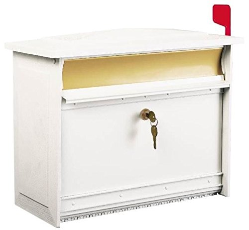 New Solar Msk000w Mailsafe White Usa Large Horizontal Lockable Security Mailbox by Solar