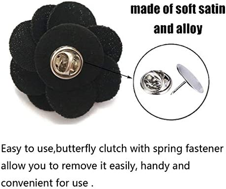 Sunny Home Mens Lapel Flower Handmade Boutonniere Pin for Suit