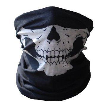 UrbanSource Black Seamless Skull Face Tube Mask BUFF ()