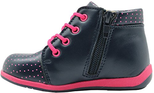 Apakowa Toddler Girls Ankle Boots with Love Heart Rhinestone Insole with Arch Support ( Color : Blue+Peach , Size : 7.5 M US Toddler ) by Apakowa (Image #2)