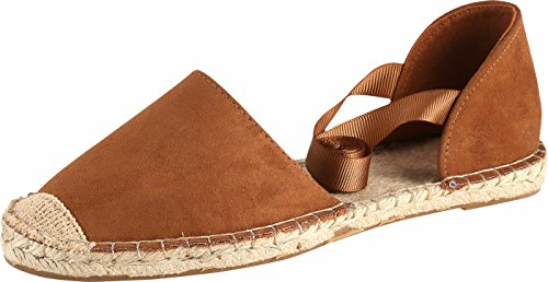 U-lite Women's Chamois Leather Summer Outdoor Casual Gladiator Flat Sandals Brown7 ()