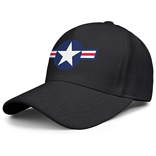 Cute Mens Baseball Caps Roundel of The United States Air Force Trucker Hat for Men Fit Dad Hat for Women ()
