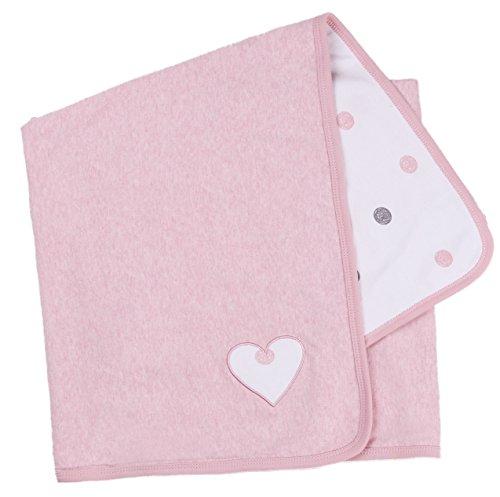 Asher and Olivia Baby Girls' Receiving Blankets Reversible Polka Dot Print. Size 30 x 40 Inch (Dot Nap Polka)