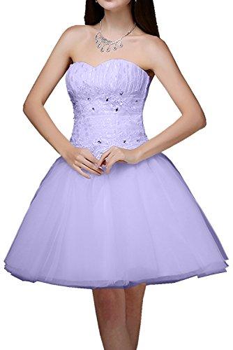 Cocktailkleider Tuell Spitze Kurz Damen Traegerlos mit Partykleider Abendkleider Lavendel Schnuerung Applikationen Ivydressing Modern Ballkleider Etq1Bwnw8x