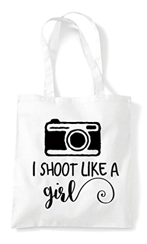 Tote Photography Shopper Girl Like A Shoot Bag Camera I White wxAYqTZX1