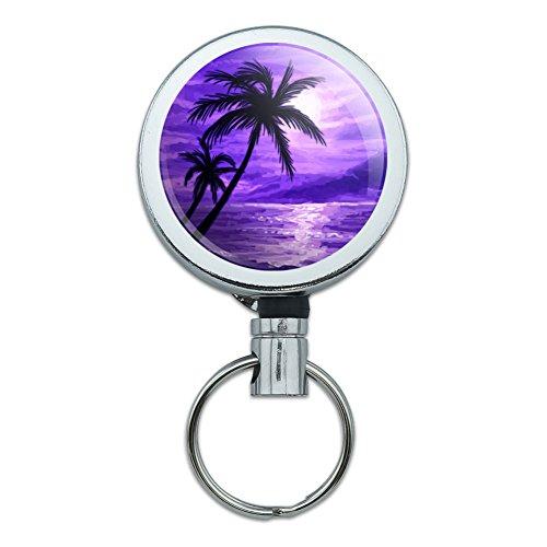 Metal Retractable Badge Holder Tropical