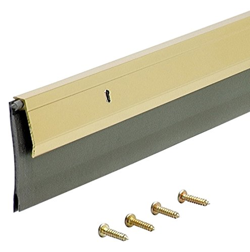 Brass Door Sweep - M-D Building Products 5744 Heavy Duty Door Sweep EXV, 36 Inches, Brite Gold