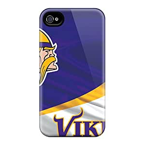 New Shockproof Protection Case Cover For Iphone 4/4s/ Minnesota Vikings Case Cover