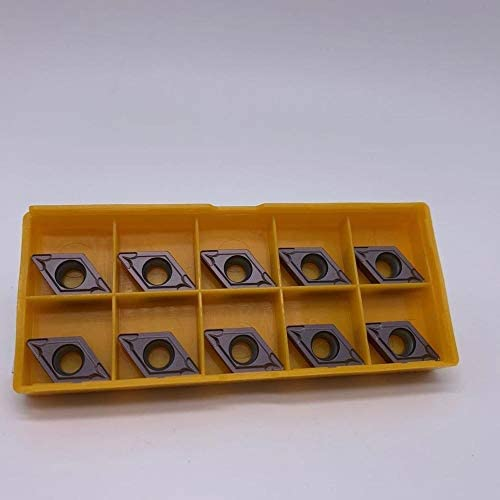 WITHOUT BRAND 10PCS / Set DCMT11T308 VP15TF / UE6020 / US735 äußere Metalldrehwerkzeug Carbide Fräswerkzeug DCMT11T308 CNC Produktdrehwerk (Größe : DCMT11T308 VP15TF)