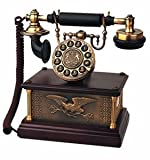 Modern Cool Decorate 1910s Classic Old Model Timey School Antique Vintage Novelty Funky Looking Style Retro Touch Tone Dial Fashion Nostalgic House Office Landline Telephone Reproduction Replica Clone