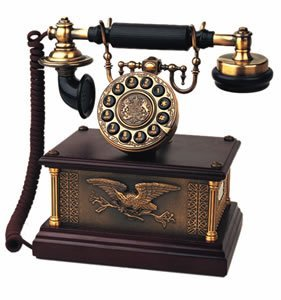 Modern Cool Decorate 1910s Classic Old Model Timey School Antique Vintage Novelty Funky Looking Style Retro Touch Tone Dial Fashion Nostalgic House Office Landline Telephone Reproduction Replica Clone by Paramount