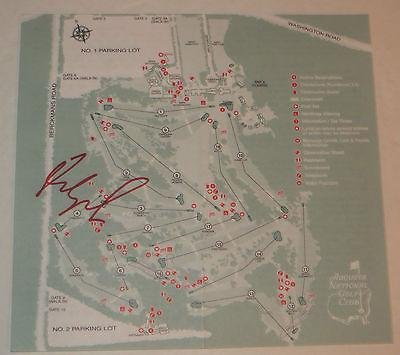 FRED COUPLES Signed MASTERS Tournament Augusta National Golf COURSE MAP - Autographed Golf Equipment