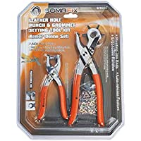 Somafix Leather Hole Punch and Grommet Setting Tool Kit