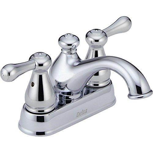 Faucet Leland Delta Bathroom (Delta Faucet 2578LF-MPU Leland, Two Handle Centerset Bathroom Faucet, Chrome)