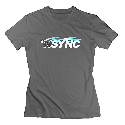 Price comparison product image DeMai Lady Crew Neck Nsync T Shirts XXL DeepHeather