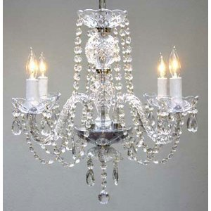 Swarovski crystal trimmed chandelier new authentic all crystal swarovski crystal trimmed chandelier new authentic all crystal chandelier chandeliers h17quot x w17quot mozeypictures Images