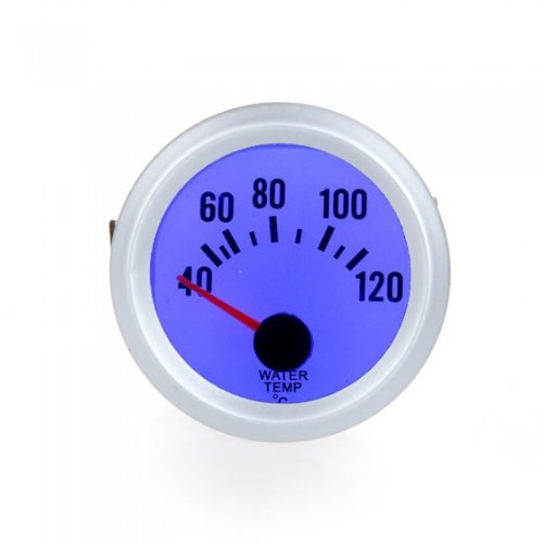Simoni Racing WT//SB Electrical Water Temperature Gauge with Sensors Silver Background