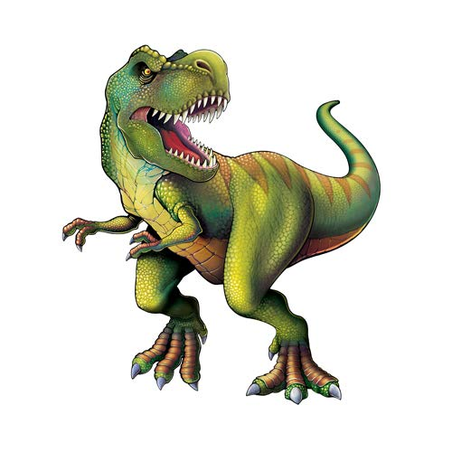 Beistle 54793 Jointed Tyrannosaurus Cutout, 52