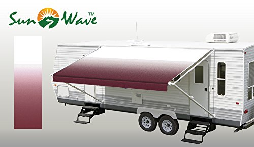 Outback Awning (SunWave Awning Fabric Burgundy Fade 16' *(approximate fabric width 15' 2-3