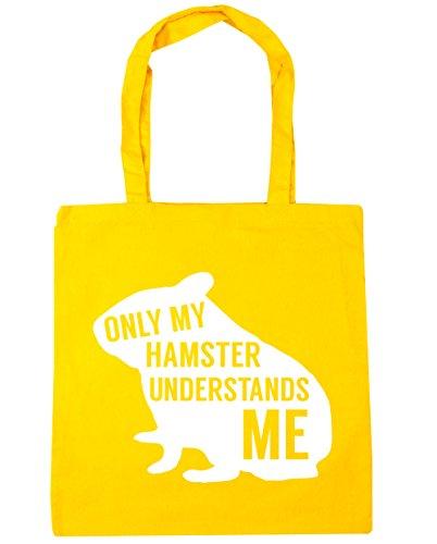 HippoWarehouse solo mi hámster entiende me Tote Compras Bolsa de playa 42cm x38cm, 10litros amarillo