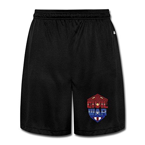 New Captain America Costume (America Captain Civil War Sport Mens Short Pants Cotton Pants)