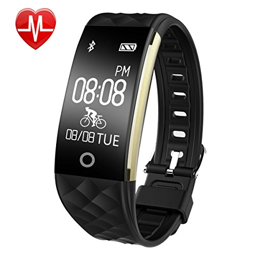 Fitness Tracker - Willful Fitness Watch Heart Rate Monitor Watch Activity Tracker Waterproof Pedometer Watch with Step Calories Counter - Sleep Monitor - Alarm Clock - Call SMS SNS Notice for iPhone Android