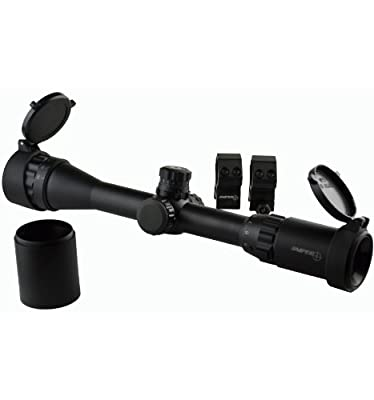 Sniper Hunting Rifle Scope 3-9X32; Front AOL; Red/Green/Blue Mil Dot Illumination; QTA W/e; Quality Optics; Rings Include from Sniper