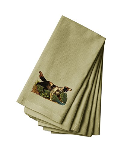 Style in Print Canvas Napkin Set Of 4 Hunting Dog In Grass Pets Animals By by Style in Print