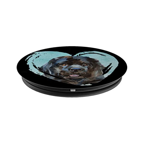 Newfoundland Portrait | Watercolor Dog Graphic PopSockets Grip and Stand for Phones and Tablets 2
