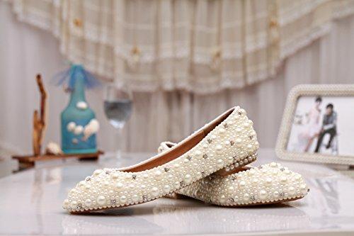 Minitoo ,  Damen Ballerinas Ivory-Pearl