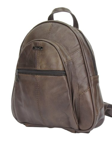 Leather Genuine Womens Lambland Brown Rucksack Backpack Ladies 8wtnxqU