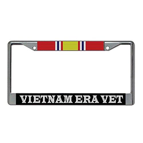 Vietnam ERA Veteran National Defense Ribbon Metal License Plate Frame (Era Metal)