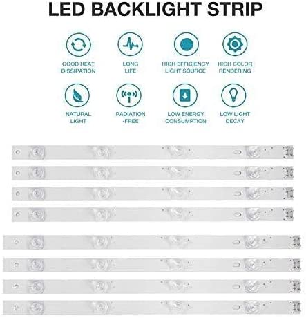 HKHJN Tira de luz de fondo LED de 4 bombillas for TV LG de 42 pulgadas 42GB6310 42LB5500 42LB550V 42LB561V 42LB570V 42LB585V 42LB5800 42LB580N 42LB5700 (8 piezas) HKHJN: Amazon.es: Iluminación