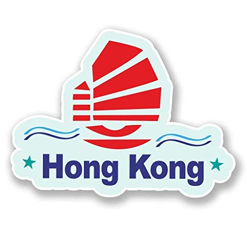 "Hong Kong Vinyl Sticker Decal Laptop Car Bumper Sticker Travel Luggage Car iPad Sign Fun 5"""