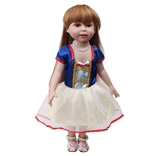 Livoty Princess Dress Clothes Skirt for 18 Inch American Toy Girl Doll Accessory Girl's Toy (Multicolor)