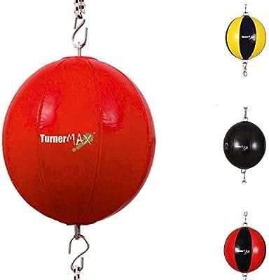 TurnerMAX Cuero sintético Boxeo Doble Fin carenado Bola Roja ...