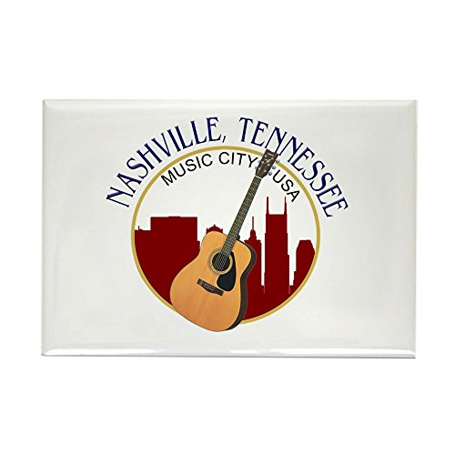 CafePress Nashville, TN Music City USA-RD Magnets Rectangle Magnet, 2