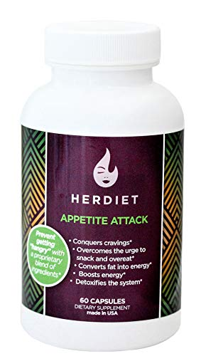 HERdiet Appetite Attack for Women Extra Strength Supplement with Appetite Suppressant Pills Stops Hunger Cravings Curb Overeating