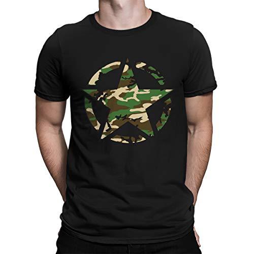 SpiritForged Apparel Retro Army Logo Camoflauge Mens T-Shirt