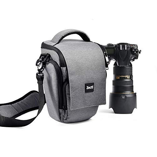 Zecti Soft Padded Camera Equipment Bag/Case for Nikon, Canon, Sony, Pentax, Olympus Panasonic, Samsung & Many DSLR…