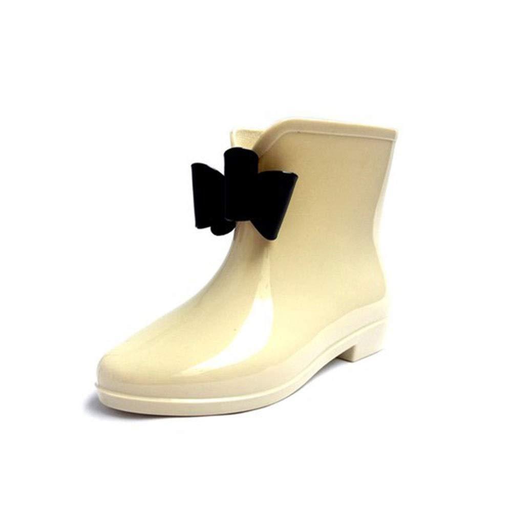Non-Slip wear-Resistant Waterproof Tube Bow rain Boots FXNN Rain Boots