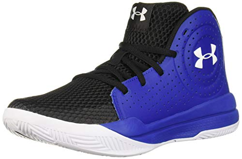 Under Armour Unisex-Kid's Pre School Jet 2019 Basketball Shoe, Royal (400)/Black, 4.5