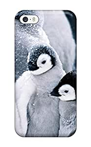 Awesome Design Penguins In The Snow Hard Case Cover For Iphone 5/5s wangjiang maoyi