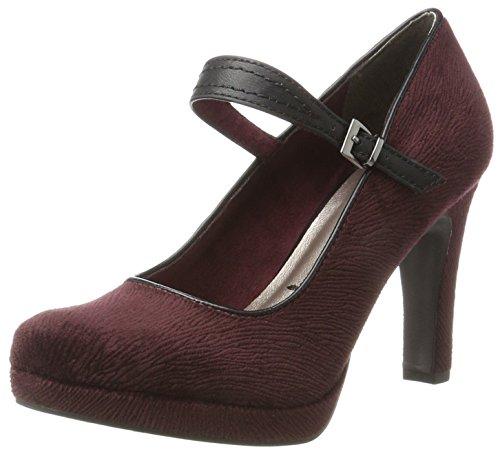Tamaris WoMen 24408 Closed-Toe Pumps Red (Berry/Black)