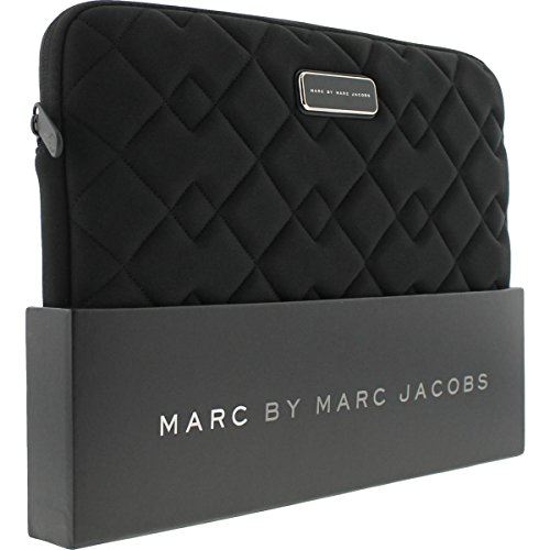 Laptop Quilted Carrying Case (Marc by Marc Jacobs Quilted Universal Laptop Case Black O/S)