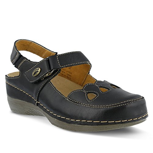 2' Wedge Shoes - Spring Step Women's Hope Sandal,Black,41 M EU/9.5-10 B(M)