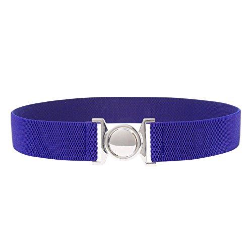 Stretchy Pin Up Cinch Belts Royal Blue L CL486-6 ()