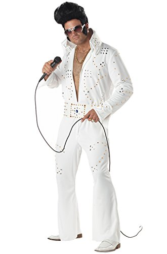 California Costumes Men's Rock Legend Costume, Medium - Elvis Costume White